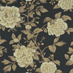 Shop for Wallpaper at Style Library: Peony Tree by Sanderson. A stunning and elegant trailing wallpaper of peony blossoms in full bloom painted in a.