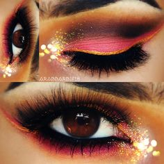 Coral and Gold by Ftm H. Click to see the awesome products she used!