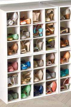 20 Best Shoe Organizer Ideas - Genius DIY Shoe Storage Shoe Storage Small Closet, Shoe Tidy, Closet Storage Bins, Shoe Cubby, Closet Shoe Storage, Bench With Shoe Storage, Small Storage, Diy Storage, Storage Ideas