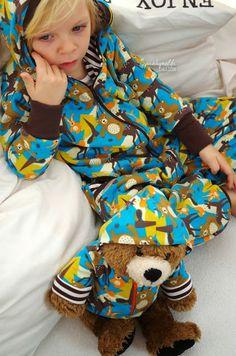 spunkynelda lillestoff enemenemeins fabric woodland knit organiccotton sewing for kids