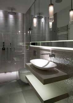 Modern grey bathrooms ultra modern grey bathroom inspiration modern bathroom ideas grey and white . Bad Inspiration, Bathroom Inspiration, Bathroom Ideas, Bathtub Ideas, Mirror Bathroom, Bathroom Pictures, Houzz Bathroom, Jacuzzi Bathtub, Bathroom Tubs