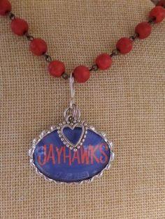 ADO | Hometown Pride Jayhawks Charm Rosary Necklace