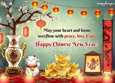 Send a heartfelt greetings of Peace, #love & joy to your loved ones on #ChineseNewYear with this beautiful #Ecard. www.123greetings.com