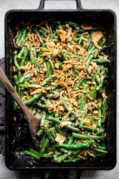 Fresh green beans and not a can in sight—our homemade green bean casserole recipe gives your favorite creamy veggie side dish a bit of a makeover.