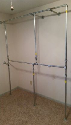 Galvanized Three Quarter Inch Pipe Clothes Rack