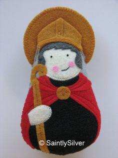 Saint Augustine of canterbury Felt Saint Softie