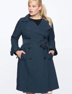 17 Best plus size trench coat outfit images | Feminine fashion, Plus ...