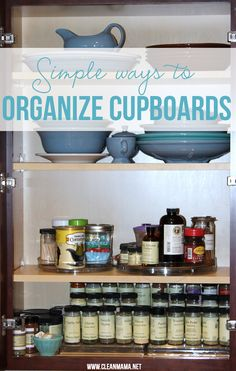 Organizing your kitchen cupboards doesn't have to be headache inducing. Make it easy with these Simple Ways to Organize Cupboards via Clean Mama