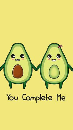 Certificación nutricional id: 9925153772 - Sprüche - Avocado Art, Cute Avocado, Avocado Food, Kawaii Drawings, Easy Drawings, Funny Food Puns, Funny Illustration, Cute Comics, Wallpaper Iphone Cute