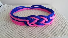 Neon blue and Pink Celtic Knotted Headband  by SpecialFabrics