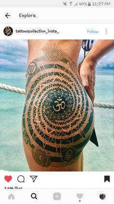 Tattoo work by Coen Mitchell : Best_tattoos Sexy Tattoos, Body Art Tattoos, Girl Tattoos, Tattoos For Women, Bum Tattoo Women, Yoga Studio Design, Yoga Inspiration, Tattoo Inspiration, Tattoo Off