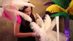 How to Accessorize Your Ostrich Feather Centerpieces