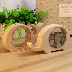 $9.08 AUD - Creative Handcrafted Wooden Piggy Bank Saving Money Coin Box For Kids Tool Gift #ebay #Collectibles