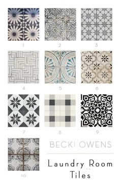 flooring decor My Favorite Laundry Room Tiles - Becki Owens Laundry Room Tile, Laundry Room Remodel, Room Tiles, Laundry Room Design, Wall Tiles, Kitchen Remodel, Laundry Room Wallpaper, Laundry Closet, Small Laundry