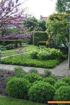 Tuininspiratie - De Rooy Hoveniers Modern Landscaping, Garden Landscaping, Landscaping Ideas, Lush Garden, Herb Garden, Garden Structures, Outdoor Structures, Garden Photos, Topiary