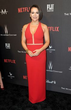 LOS ANGELES, CA - JANUARY 08:  Actress Alyssa Milano arrives for the 2017 Weinstein Company And Netflix Golden Globes After Party on January 8, 2017 in Los Angeles, California.  (Photo by Albert L. Ortega/Getty Images) via @AOL_Lifestyle Read more: http://www.aol.com/article/entertainment/2017/01/09/golden-globes-2017-after-parties/21650916/?a_dgi=aolshare_pinterest#fullscreen