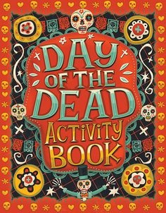 Illustrated Day of the Dead activity book for kids