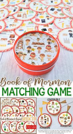Printable Book of Mormon Game great for Primary FHE Seminary YW Activities and Sunday Activities, Church Activities, Activity Days, Family Activities, Craft Activities, Primary Activities, Primary Lessons, General Conference Activities For Kids, Primary Christmas Gifts