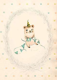 Happy Birthday II PRINT 6x8 inches by holli on Etsy, $10.00