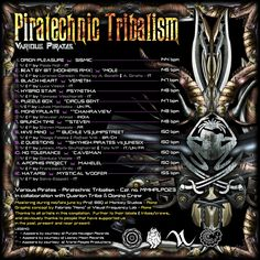 Back cover - PIRATECHNIC TRIBALISM by Various Pirates . Pirates and sea dogs from Quarion Tribe and Domino Crew..& World People Prod. OUT JULY 24th 2015