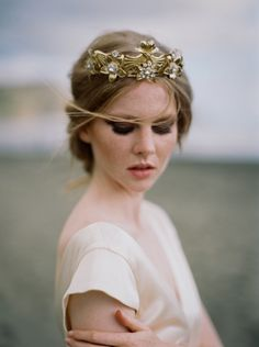 Moody and dramati bridal inspiration on Bethells Beach, Auckland by Katie Grant, featuring a Sarah Seven Gown