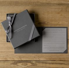 Restoration Hardware Gift Certificate. Style for the level placement.