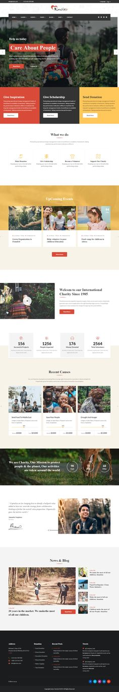 Non Profit Website Template from i.pinimg.com