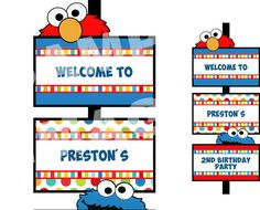 Sesame Street Party Sign  Elmo Party Sign  by StorybookLaneCrafts, $10.00