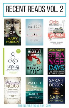 If you're looking for good book suggestions, here are the latest books I've read recently!