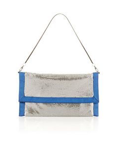 Metal Mesh Clutch by BCBGMAXAZRIA at Last Call by Neiman Marcus.
