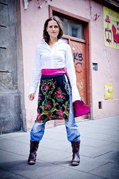 Handmade wrap   skirt with flowers and by baboshkababoshka on Etsy, $75.00