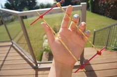Make Your Own Hairpin Lace Loom!! This is a down & dirty way to make a loom & great for other people who are as cheap as me!! *My Backyard Monsters