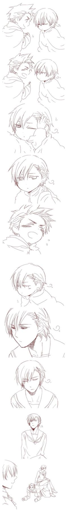 Denmark and Norway. Awwww [Hetalia] DEANNY IS JUST SO HAPPY LIKE A PUPPY I AM DYING