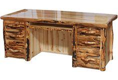 Desk in Log Front (72″W)