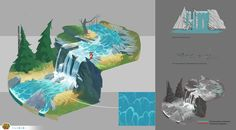 Leo & Tig - location design on Behance Background Drawing, Cartoon Background, Digital Painting Tutorials, Art Tutorials, Character Design Animation, Character Art, Concept Art Tutorial, Isometric Art, Landscape Drawings
