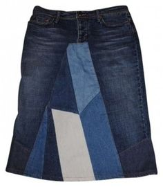 JOE'S Jeans Patchwork Suede Skirt Denim