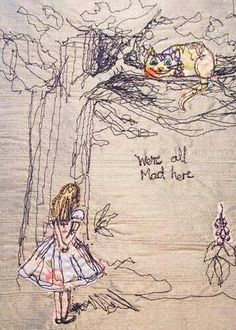Alice in Wonderland embroidery