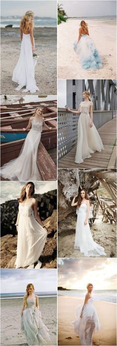 beach wedding dresses-beach wedding ideas / http://www.deerpearlflowers.com/50-swoon-worthy-beach-wedding-dresses-for-2015-wedding/3/