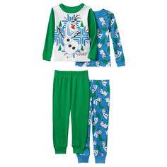 Disney FROZEN OLAF SNOWMAN SLEEPWEAR PAJAMAS 4T 4 PIECES 2 SHIRTS 2 PANTS GIFT  #Disney