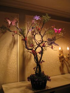 Dry centerpiece. Theme - magical forest
