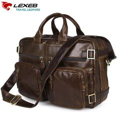 119.99$  Watch now - http://alil87.worldwells.pw/go.php?t=32747458567 - LEXEB Famous Brand Nautral Leather Briefcases Men Shoulder Bags Luxury Designer Multi-function Travel Bag Laptop Portfolio Man