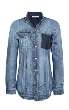"""""""Western"""" Shirt With Torn Pocket by Pierre Balmain Now Available on Moda Operandi"""