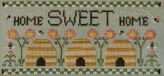 Sweetest Home Counted Cross Stitch Pattern, by Country Cottage Needleworks, Home Sweet Home Sampler WI by GriffithGardens on Etsy