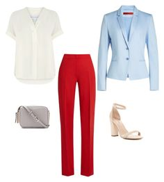 """""""Blue+red"""" by sofya-2 on Polyvore featuring HUGO, Warehouse, Call it SPRING and MaxMara Max Mara, 2 In, Warehouse, Spring, Polyvore, Red, Blue, Image, Fashion"""