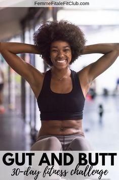 gut and butt fitness challenge – 30 Day ABS Workout Plans Fitness Herausforderungen, Health Fitness, Fitness Plan, Fitness Motivation, Fitness Challenges, Fitness Goals, Weight Loss For Women, Best Weight Loss, Flat Tummy Workout
