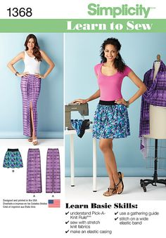 Simplicity Creative Group - Misses' Learn to Sew Pull-on Skirts1368
