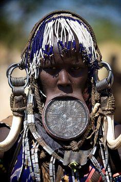 Mursi tribe, Ethiopia. pinned by Anika Schmitt