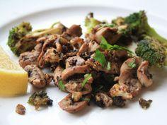 Saut\u00e9ed Kidneys with Broccoli, Anchovies, and Chili Pepper Recipe