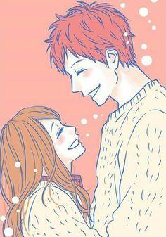 I ship Kakeru and Naho.but I also ship Suwa and Naho (; M Anime, Girls Anime, Fanart Manga, Manga Art, Anime Couples Drawings, Cute Anime Couples, Couple Drawings, Orange Anime, Kawaii