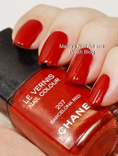Chanel Barcelona Red 207 - 2005 swatches